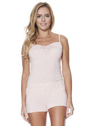 Luisa Moretti Dámske pyžamo VALENTINA. Luxusné dámske bambusové pyžamo VALENTINA zo 100% bambusového vlákna ocenia ženy s citlivou pokožkou a alergiami. Lososová XL