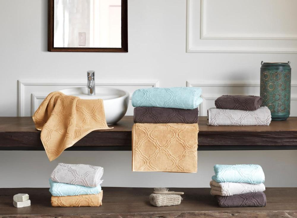 Soft Cotton Sada Ručníků TERRA 50x100 cm + 75x150 cm hořčicová