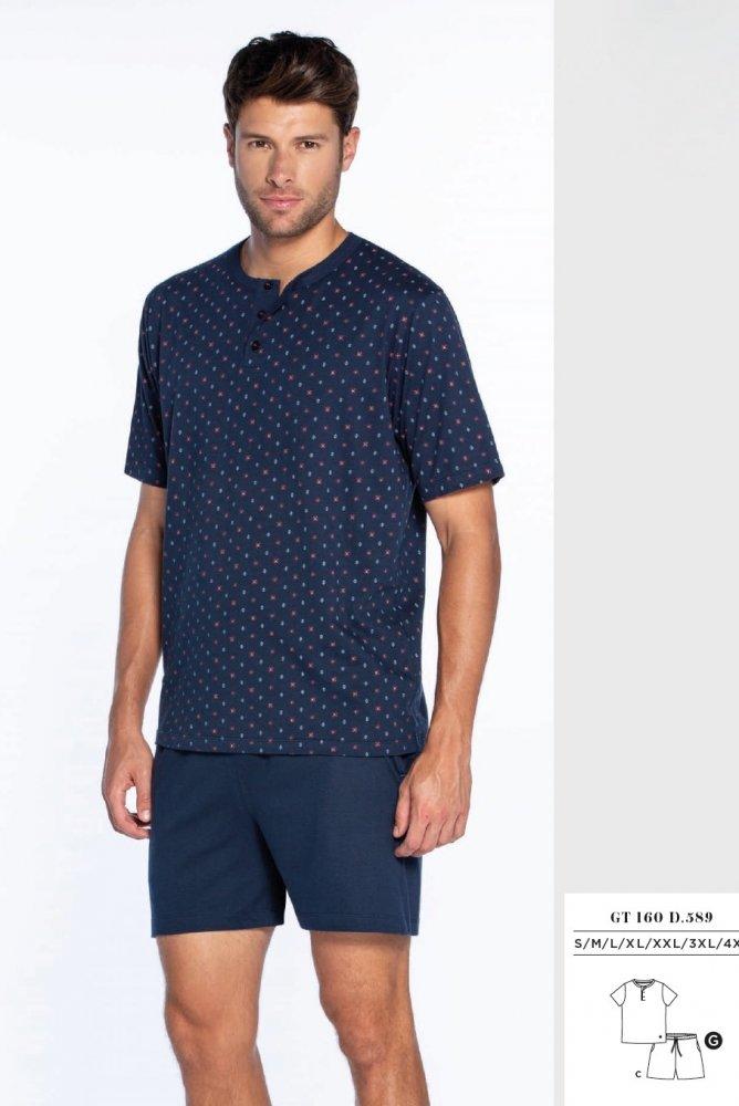 GUASCH Pánské pyžamo Xavier tmavě modrá S