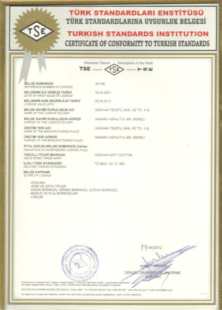Certifikát TSE_Soft Cotton