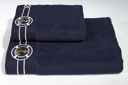 Soft Cotton Sada Ručníků MARINE MAN 50x100 cm + 85x150 cm bílá
