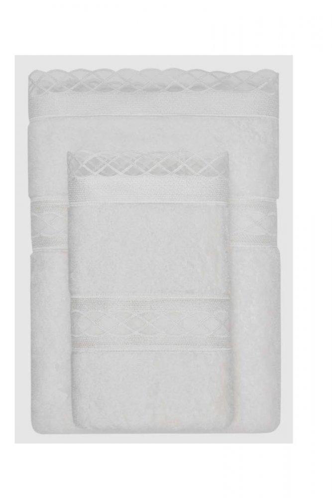 Levně Dárkové balení ručník a osuška SELYA Smetanová,Dárkové balení ručník a osuška SELYA Smetanová