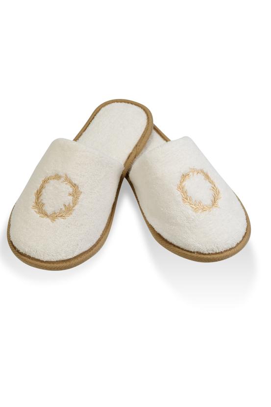 Soft Cotton Pánské pantofle SEHZADE. Froté pánské pantofle SEHZADE, s gumovou podrážkou a s výšivku jsou vhodné zejména, jako doplněk k pánským županů SEHZADE.