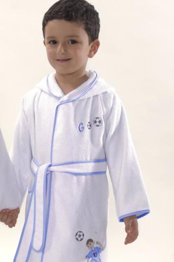 Soft Cotton Dětský župan FOOTBALLER s kapucí v dárkovém balení