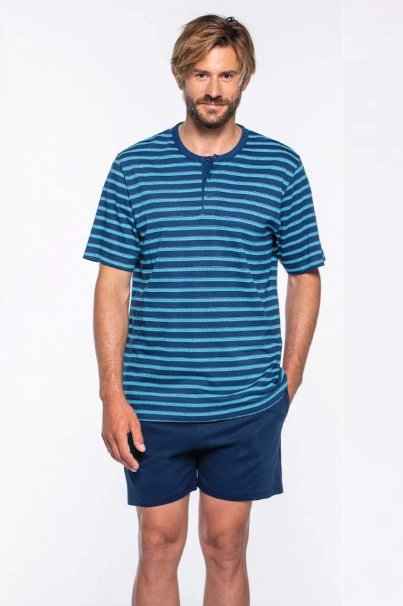 GUASCH Pánské pyžamo RICARDO tyrkisová XL