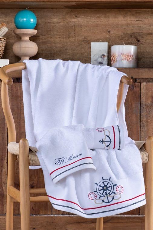 Soft Cotton Osuška a ručník NAVY v dárkovém balení + aroma spray bílá