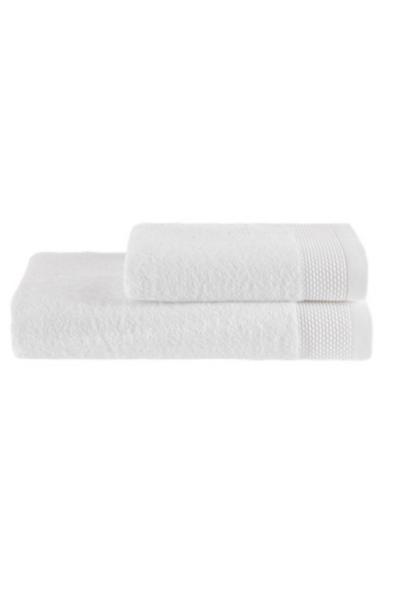 Soft Cotton Dárková sada ručník a osuška BAMBOO bílá