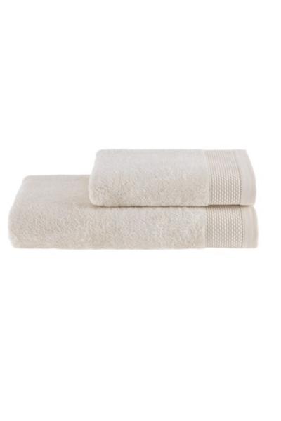 Soft Cotton Dárková sada ručník a osuška BAMBOO smetanová