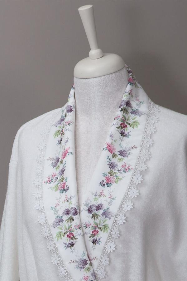 Soft Cotton Dámský župan VERSAILES smetanová L/XL