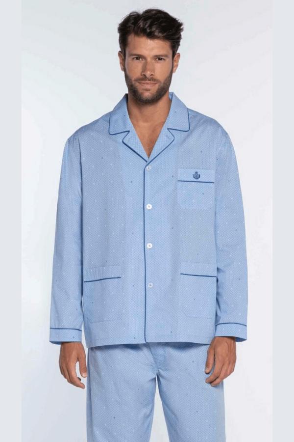 GUASCH Pánske pyžamo ALBERTO Svetlo modrá S
