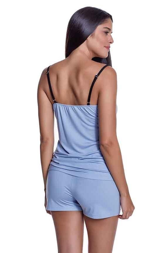 Luisa Moretti Dámské bambusové pyžamo BELLA světle modrá L