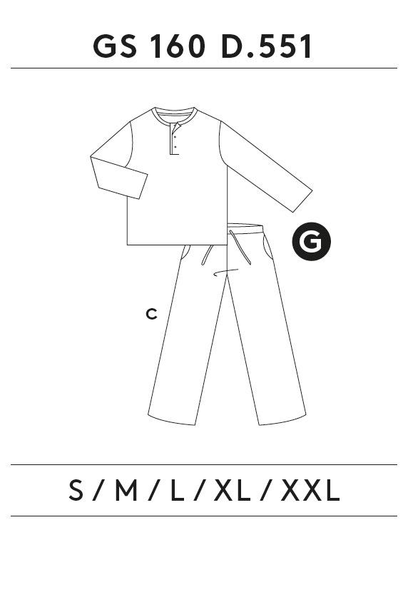 GUASCH Pánské pyžamo ARSENIO šedá L