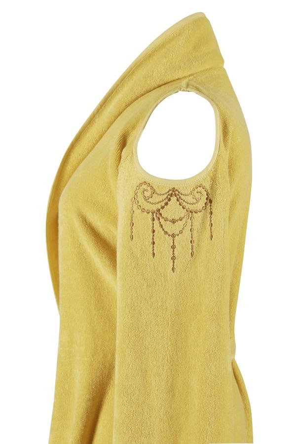 Soft Cotton Dámský krátký župan GLORIA Žlutá S