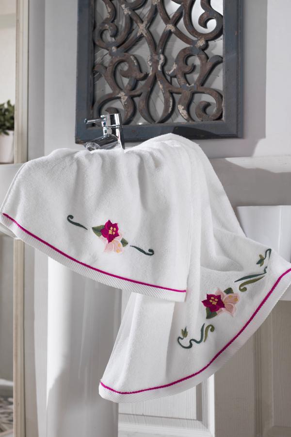 Soft Cotton Ručník LILY 50x100 cm bílá