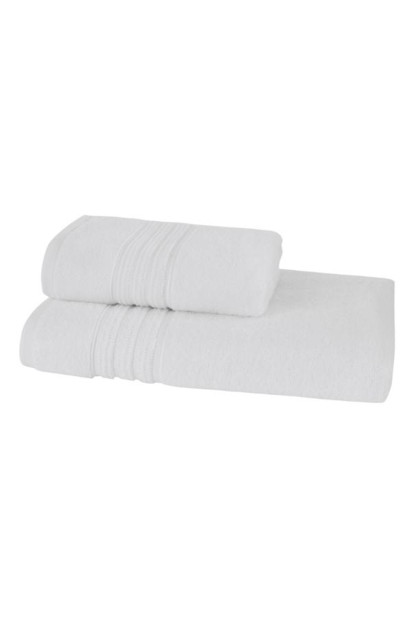 Soft Cotton Sada Ručníků ARIA 50x90 cm + 75x150 cm bílá