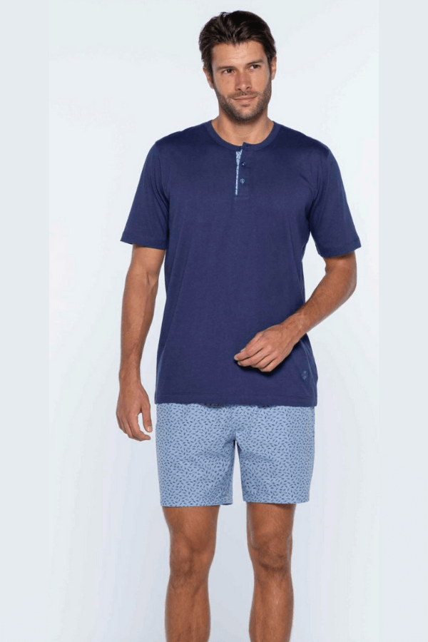 GUASCH Pánské pyžamo NATANIEL Tmavě modrá XL