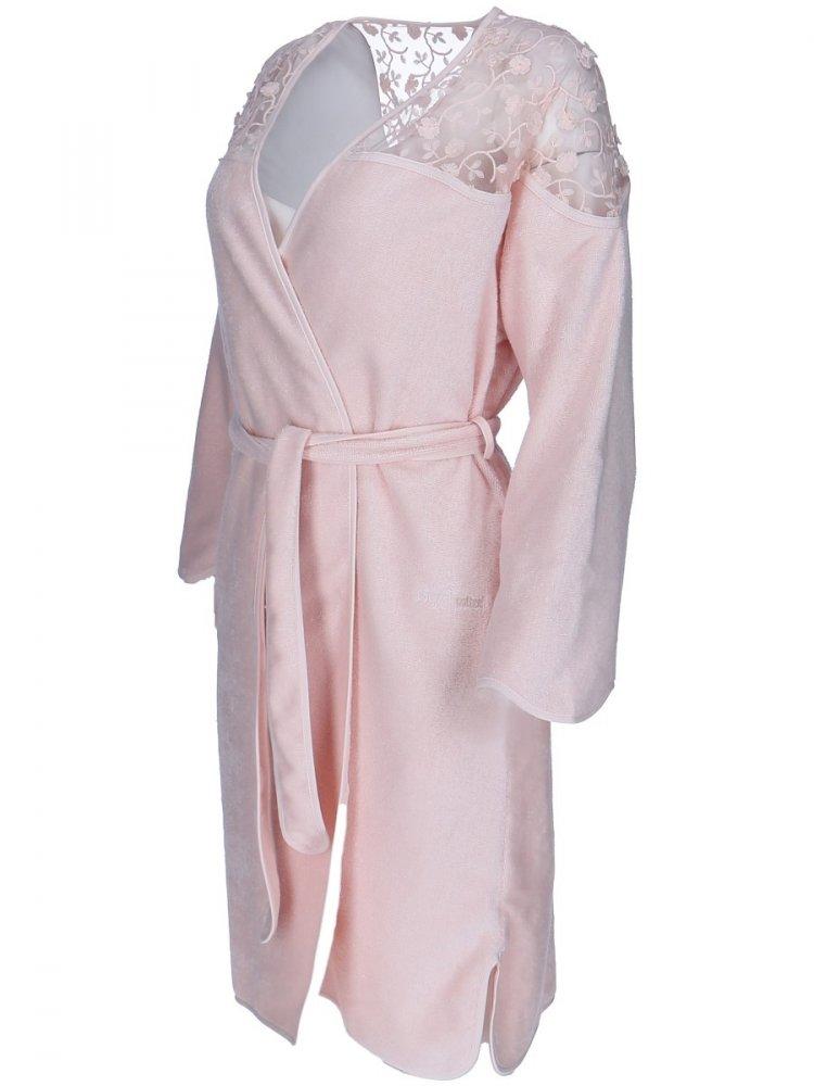Soft Cotton Krátký dámský župan ROSELLA v dárkovém balení bílá M