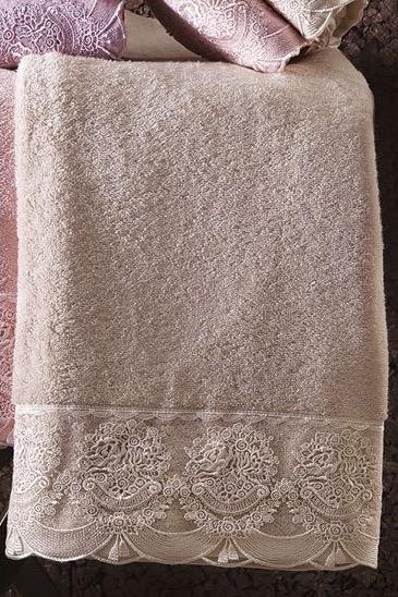 Soft Cotton Osuška a ručník DIAMOND v dárkovém balení béžová