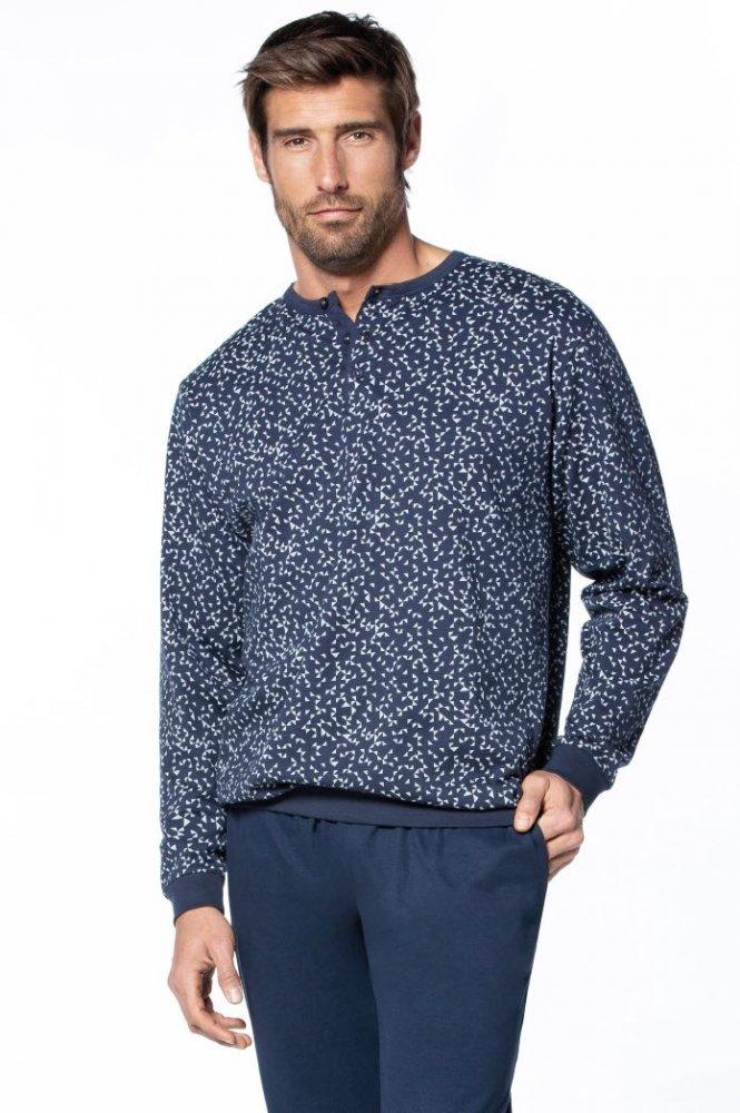 GUASCH Pánske pyžamo MIGUEL Tmavo modrá S