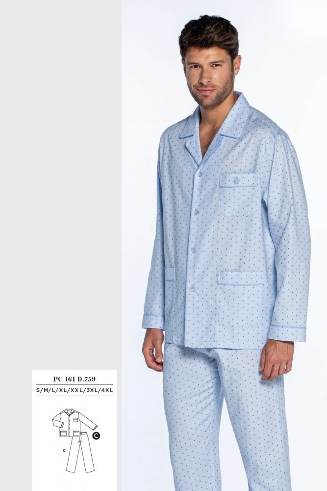 GUASCH Pánské pyžamo ANTONIO světle modrá L