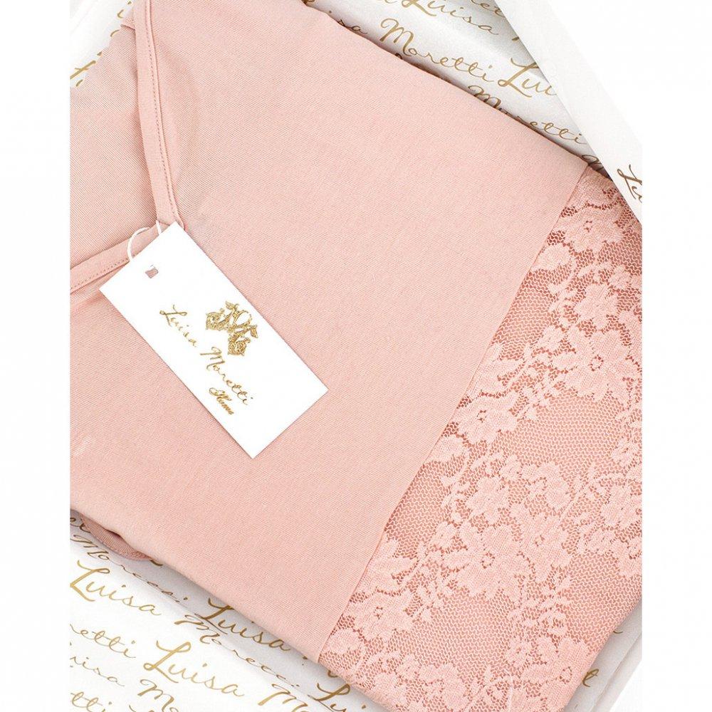 Luisa Moretti Dámské bambusové pyžamo SOFIA. Luxusné a sexy dvojdielne dámske pyžamo SOFIA v čiernej farbe rozprúdi atmosféru spálne každej sebavedomej dámy. XL Lososová