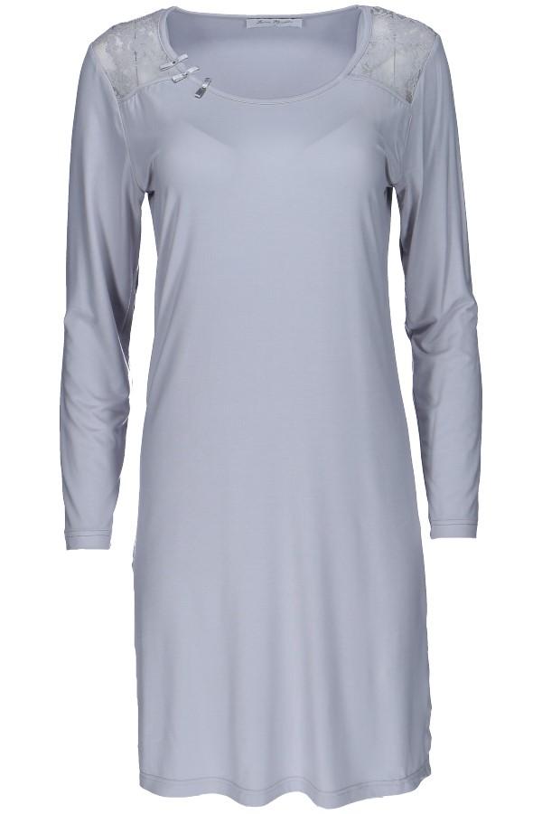 Luisa Moretti Dámská bambusová košilka ANNA stříbrná XL