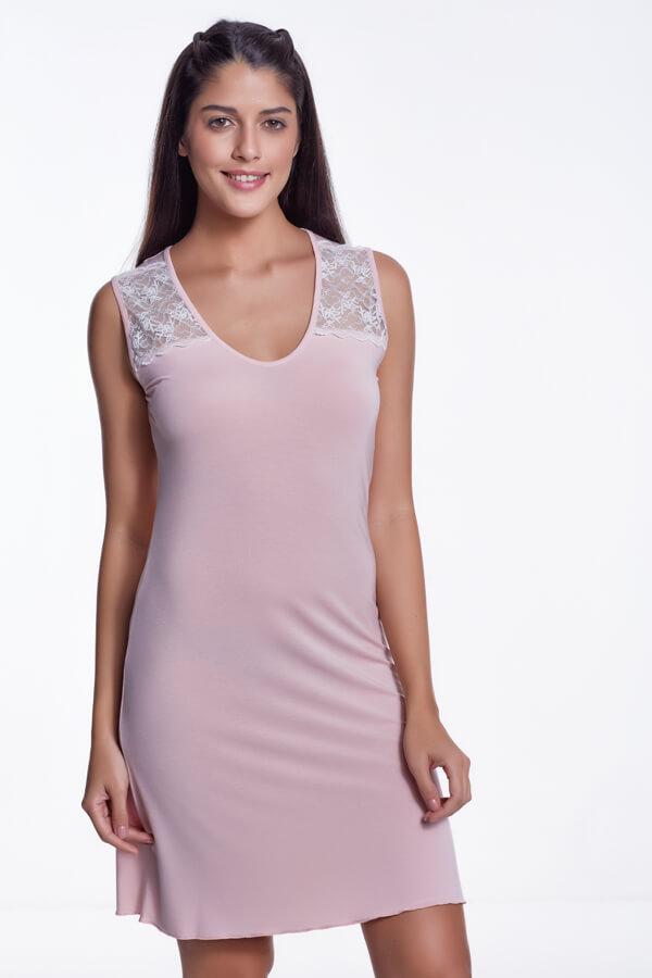 Luisa Moretti Dámská noční bambusová košilka JULIE XL růžová
