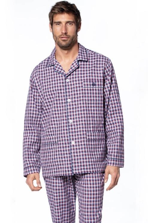 GUASCH Pánske pyžamo ISAAC Bordo L