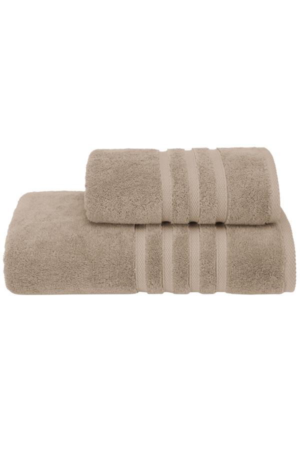 Soft Cotton Osuška BOHEME 85x150 cm. Jej rozmery sú veľkorysé, a to 150 x 85 cm, takže je vhodná nielen pre ženy, ale aj pre mužov. Po kúpeli zahalí vaše telo od hlavy až k päte. Béžová