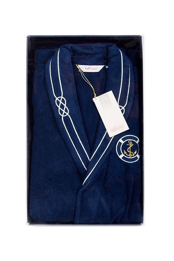 Soft Cotton Luxusní pánský župan MARINE MAN v dárkovém balení Tmavě modrá S