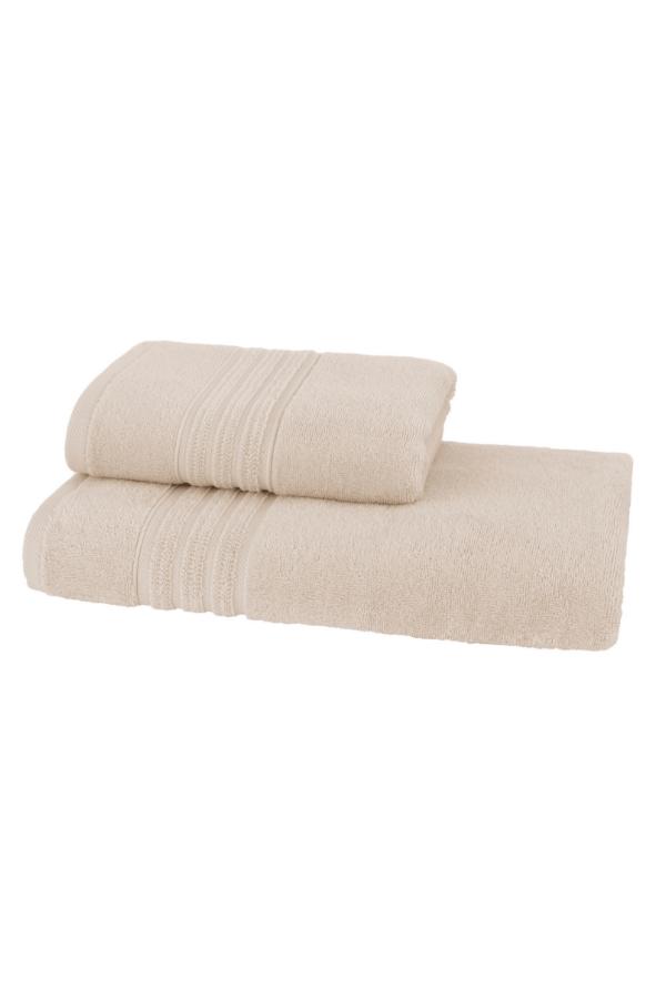 Soft Cotton Sada Ručníků ARIA 50x90 cm + 75x150 cm světle béžová