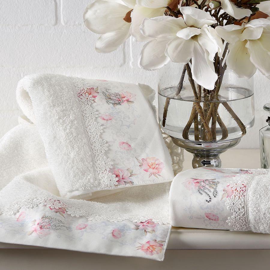 Soft Cotton Osuška a ručník VENICE v dárkovém balení Sada (50x100cm,  75x150cm) smetanová
