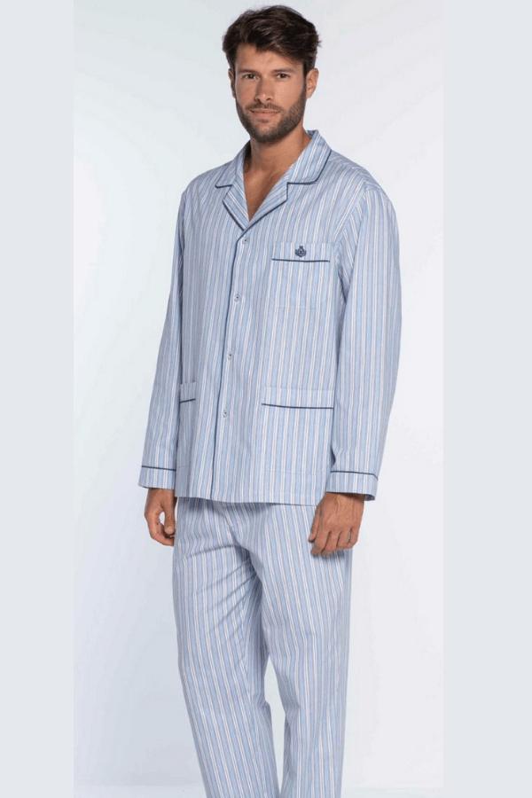 GUASCH Pánske pyžamo OCTAVIO Svetlo modrá XXL