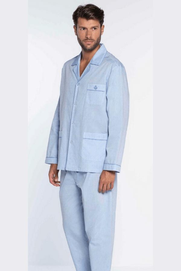 GUASCH Pánské pyžamo MATTEO Světle modrá M