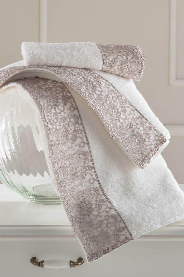 Soft Cotton Osuška a ručníky ANAIS v dárkovém balení smetanová