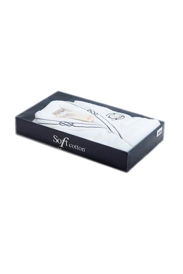 Soft Cotton Luxusní pánský župan MARINE MAN v dárkovém balení Bílá L