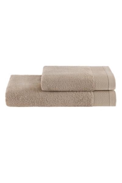 Soft Cotton Dárková sada ručník a osuška BAMBOO  béžová