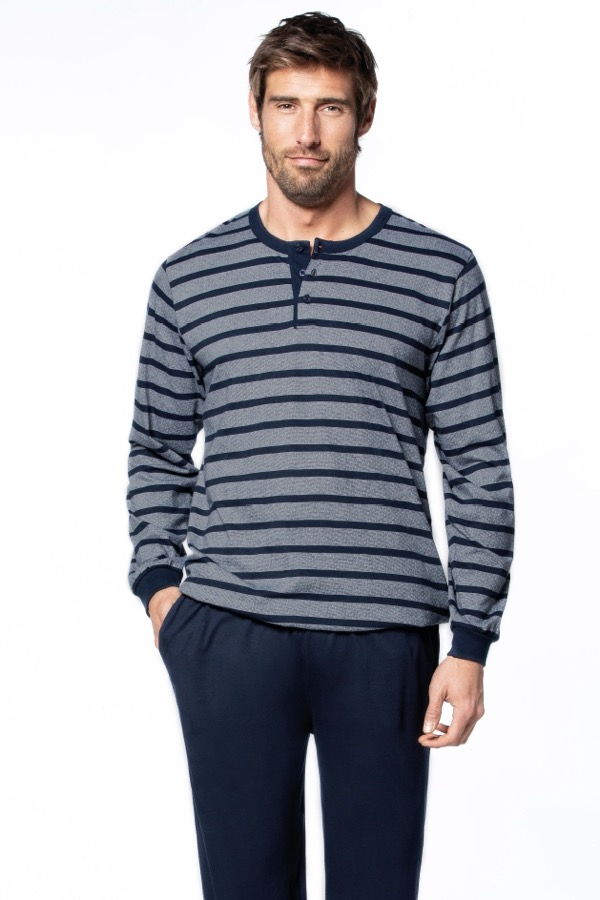 GUASCH Pánské pyžamo DIEGO šedá XL