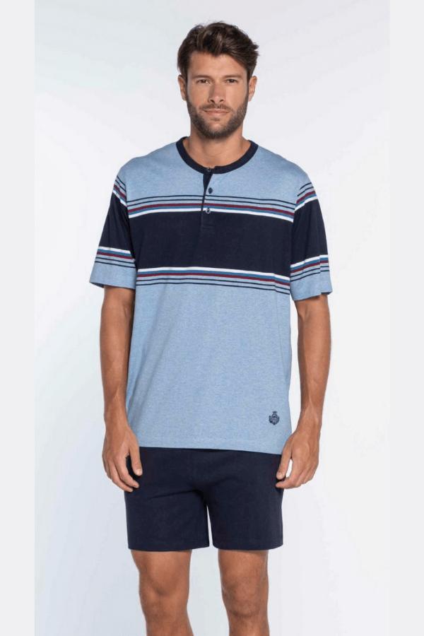 GUASCH Pánské pyžamo ROBERTO Světle modrá S