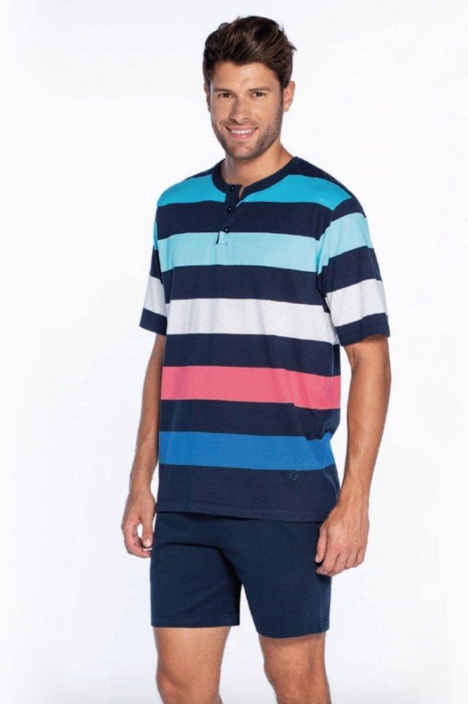 GUASCH Pánske pyžamo VICTOR Tmavo modrá M