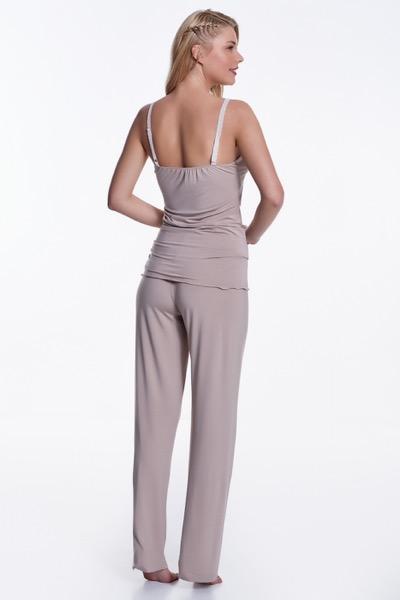 Luisa Moretti Dámské pyžamo bambusové BETTY stříbrná XL