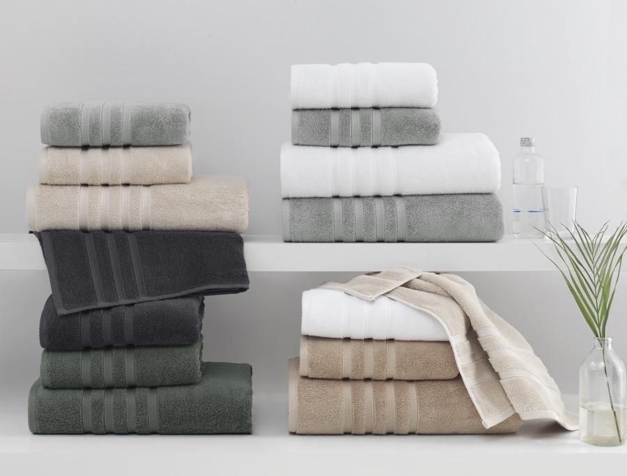 Soft Cotton Sada Ručníků BOHEME 50x100 cm + 85x150 cm khaki