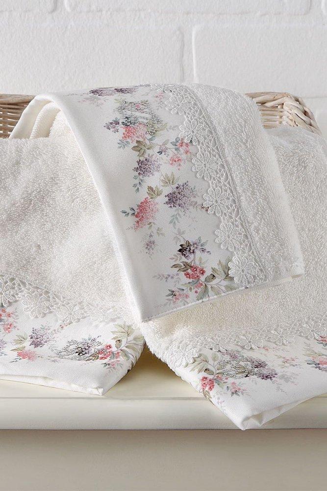 Soft Cotton Osuška a ručník VERSAILES v dárkovém balení + aroma spray smetanová