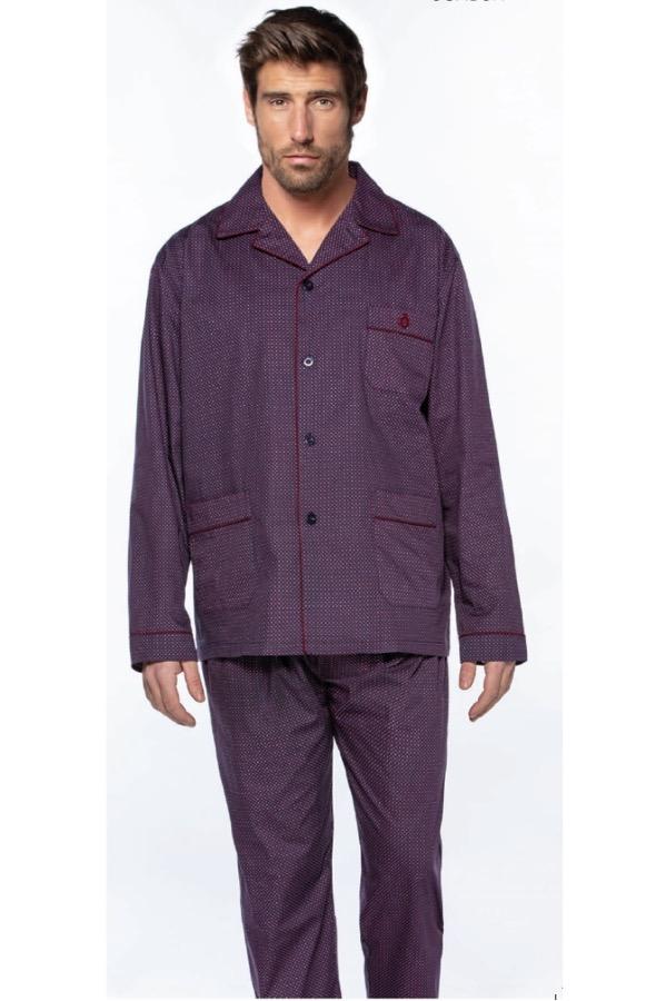 GUASCH Pánské pyžamo LUIS bordo S