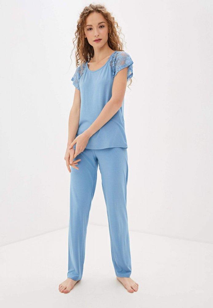 Luisa Moretti Dámské bambusové pyžamo SUSANA světle modrá XL