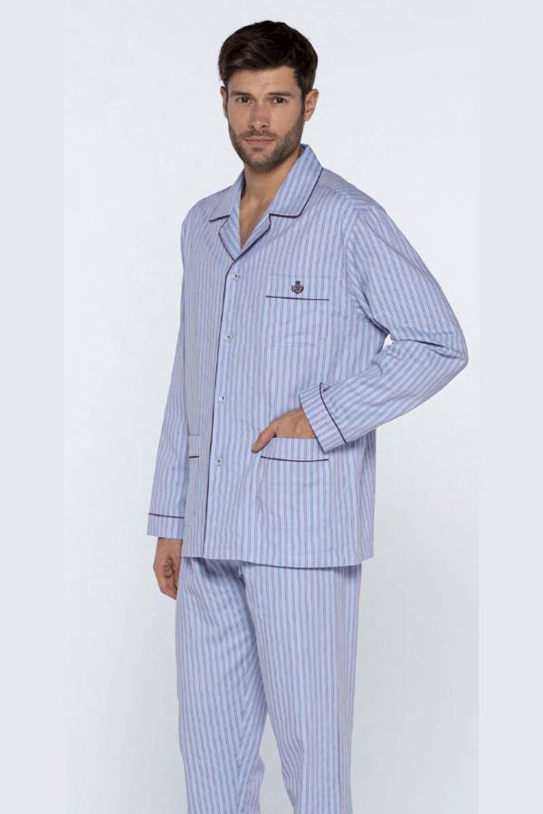 GUASCH Pánske pyžamo MATTEO Svetlo modrá L