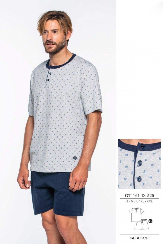 GUASCH Pánské pyžamo FABIO světle šedá  M