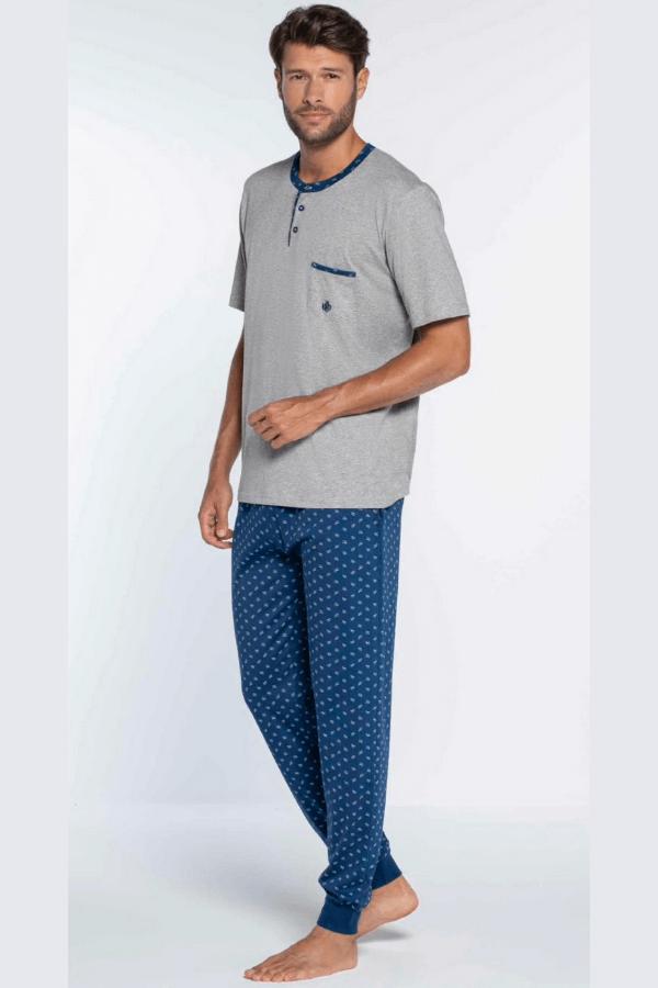 GUASCH Pánské pyžamo ARSENIO Světle šedá M