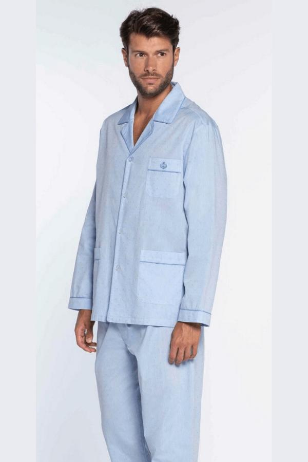 GUASCH Pánske pyžamo MATTEO Svetlo modrá S