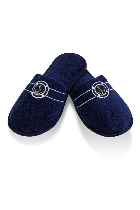 Soft Cotton Pánské pantofle MARINE MAN. Froté pantofle MARINE MAN, s gumovou podrážkou a s vyšitou zlatou kotvičkou jsou vhodné zejména, jako doplněk k pánským županů MARINE MAN.